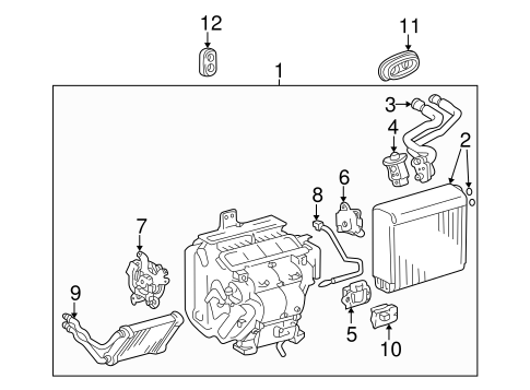 Evaporator & Heater Components for 2001 Toyota Highlander