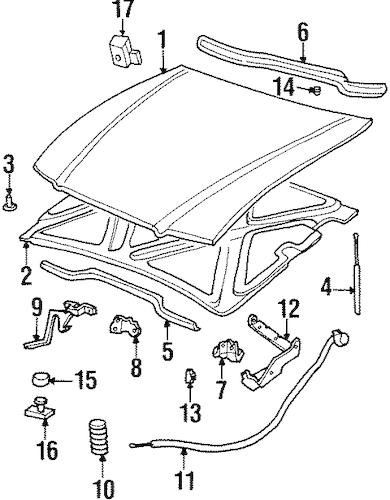 HOOD & COMPONENTS 1998 Buick LeSabre OEM