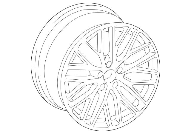 2016-2018 Audi TT Quattro Wheel, Alloy 8S0-601-025-S