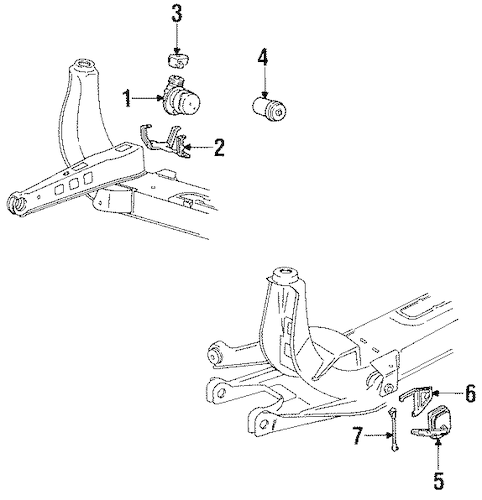 OEM AUTO LEVELING COMPONENTS for 1991 Cadillac Seville