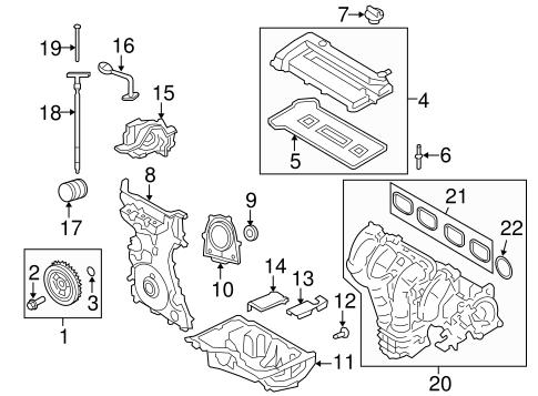 OEM 2008 Ford Escape Engine Parts Parts