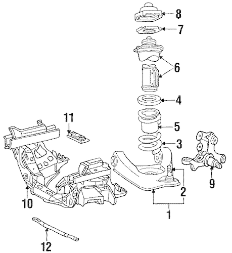 SUSPENSION COMPONENTS for 1998 Ford Mustang