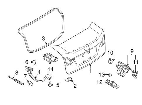 Lid & Components for 2012 Ford Fiesta