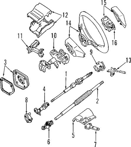 2000 Toyota 4runner Horn