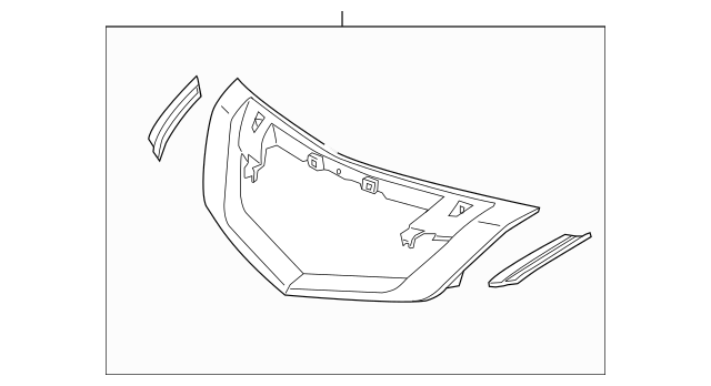 2009-2011 Acura TL SEDAN Molding, Front Grille *Schrome