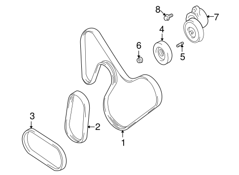 Accessory Drive Belt System Components for 2003 Suzuki