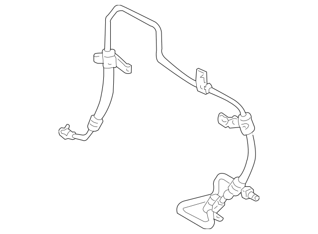 Toyota Power Steering Pressure Hose (44410-48141