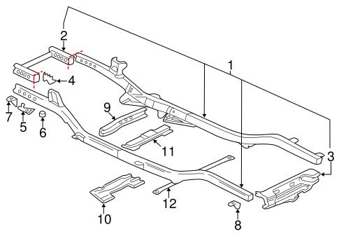 Frame & Components for 2005 Chevrolet Trailblazer
