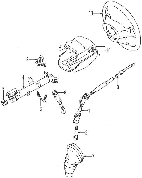 Genuine OEM Steering Wheel Parts for 2003 Toyota Celica