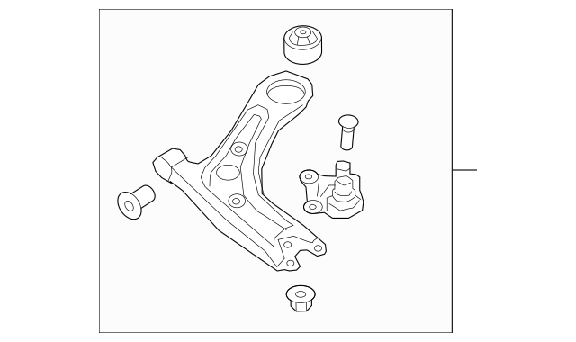 Hyundai Arm Complete-Front Lower Right-Hand 54501-4W000