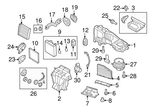 Evaporator & Heater Components for 2011 Volkswagen Jetta