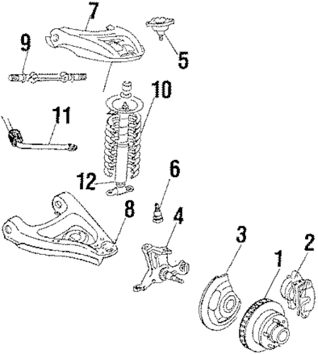 FRONT SUSPENSION for 1987 Chevrolet Monte Carlo (SS)