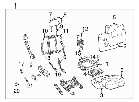 Front Seat Components for 2003 Chevrolet Silverado 1500