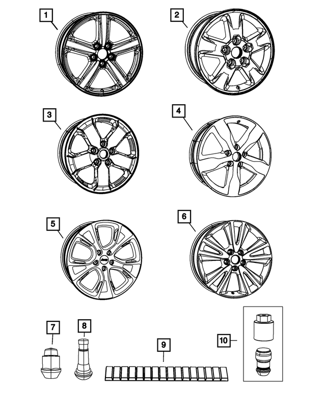 OEM Mopar Aluminum Wheel For 2011-2013 Jeep Grand Cherokee