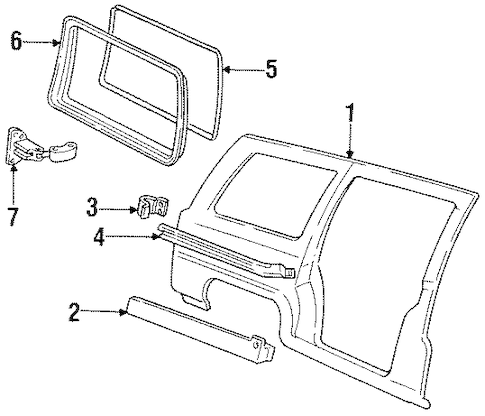 Side Panel for 1995 Oldsmobile Silhouette