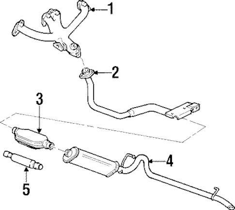 EXHAUST COMPONENTS for 2000 Jeep Cherokee