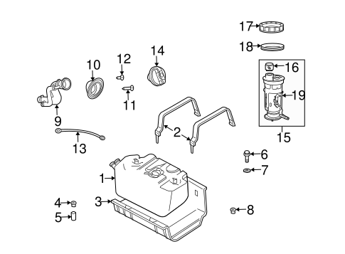 FUEL SYSTEM COMPONENTS for 2003 Jeep Wrangler