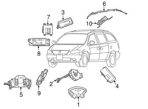 AIR BAG COMPONENTS for 2002 Chrysler Town & Country