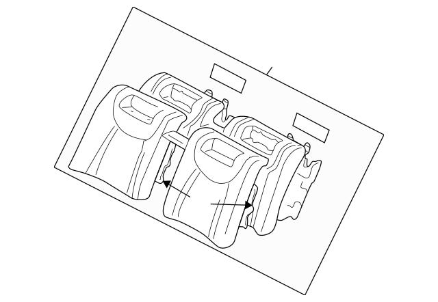 2001-2003 Lexus LS430 Seat Back Assembly 71480-50760-C3