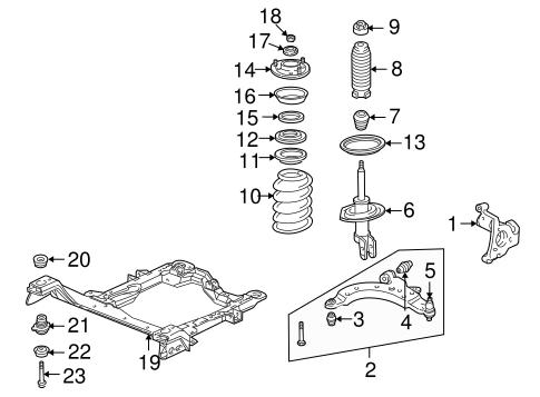Suspension Components for 2008 Chevrolet Uplander