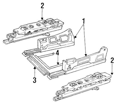 OEM 1990 Buick Regal Tracks & Components Parts