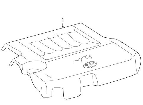 Genuine OEM Engine Appearance Cover Parts for 2008 Toyota