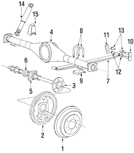 Service manual [1995 Mitsubishi Mighty Max Rear