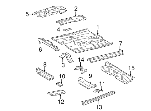 Genuine OEM FLOOR & RAILS Parts for 2007 Toyota Camry LE