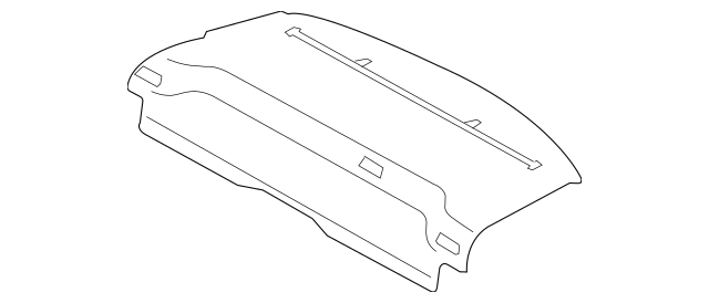Genuine OEM 2007-2014 Volvo S80 Pkg Tray Trim 39812069