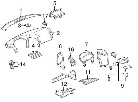 Instrument Panel Components for 2006 Pontiac Grand Prix