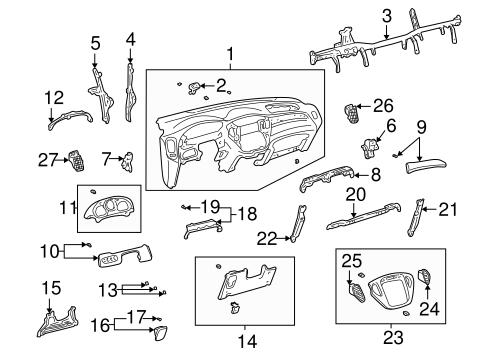 Genuine OEM Instrument Panel Parts for 2001 Toyota