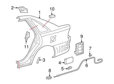 Genuine OEM Trunk Parts for 2000 Toyota Avalon XLS