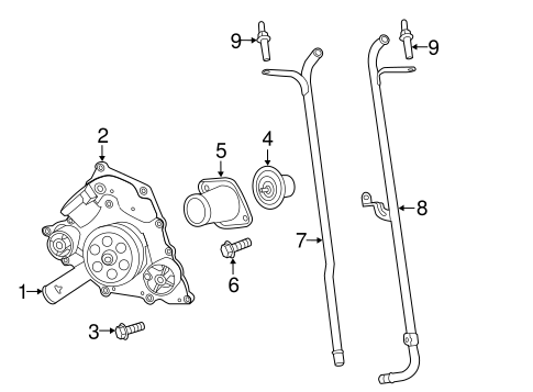 WATER PUMP for 2014 Chrysler 300