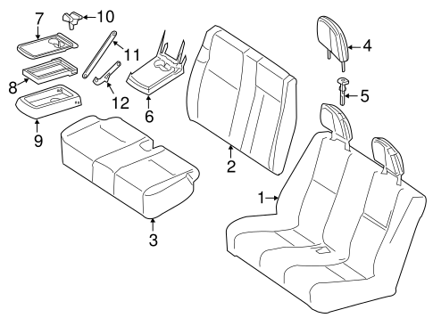 FRONT SEAT COMPONENTS for 2012 Mercedes-Benz Sprinter 2500