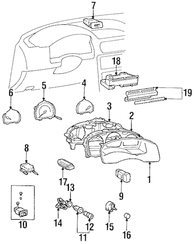 Genuine OEM Controls Parts for 1997 Toyota Tercel CE