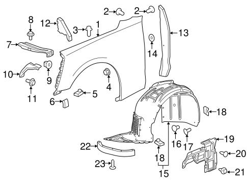 Fender & Components for 2016 Chevrolet Camaro