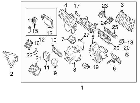 Evaporator & Heater Components for 2011 Nissan Sentra
