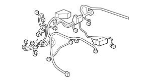 2019 Honda PASSPORT 5-DOOR Wire Harness, R Cabin 32100-TGS