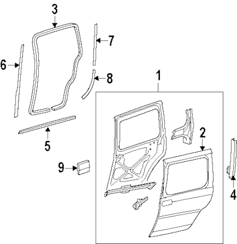 OEM DOOR & COMPONENTS for 2004 Oldsmobile Silhouette