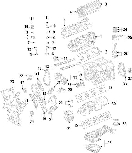 Genuine OEM Toyota Engine and Drivetrain Parts