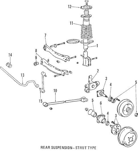 Genuine OEM Rear Suspension Parts for 2005 Toyota Camry