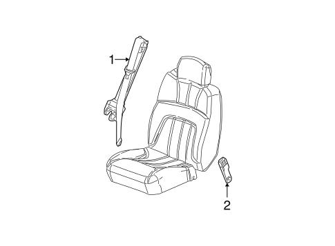 OEM 2004 GMC Envoy XL Front Seat Belts Parts