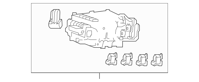 2018-2020 Acura TLX SEDAN Box Assembly, Fuse (Rewritable