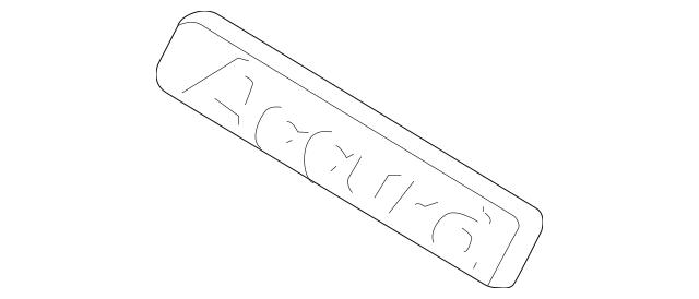 2010-2011 Honda CROSSTOUR 5-DOOR Emblem, Rear (Accord