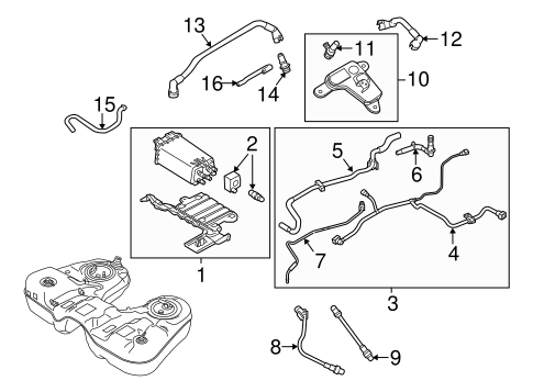 EMISSION COMPONENTS for 2012 Ford Flex