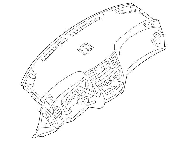 2013-2019 Nissan Pathfinder Instrument Panel 68100-9PJ0A