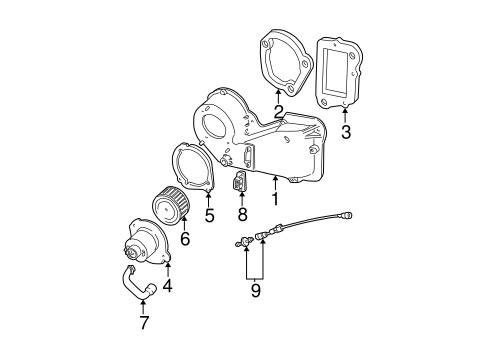 HEATER COMPONENTS for 1996 Ford Explorer