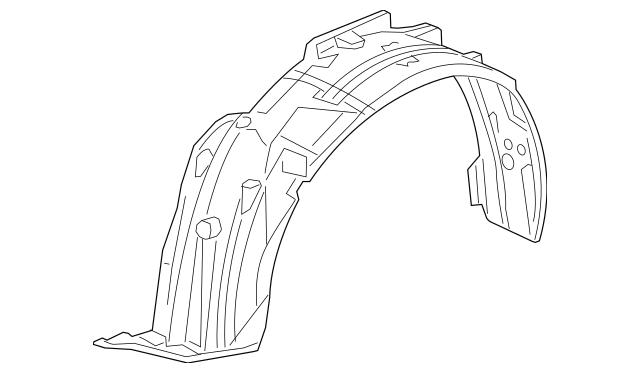 2016-2017 Acura RDX 5-DOOR Fender Assembly, R Front (Inner