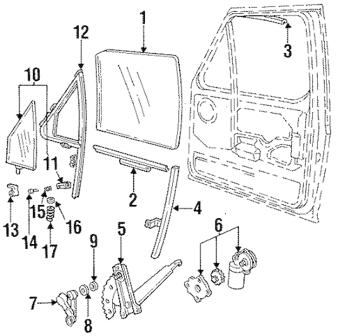 FRONT DOOR for 1995 Ford F-250