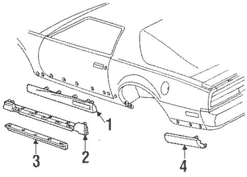 OEM 1991 Pontiac Firebird Ground Effects Parts